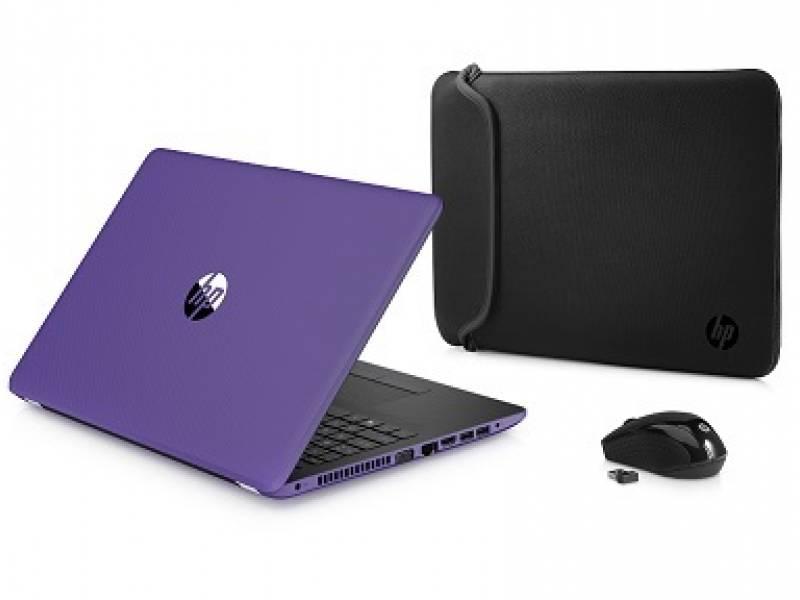 """Notebook HP 15-bw003wm E2-9000e 15.6"""" DVDRW Purple"""