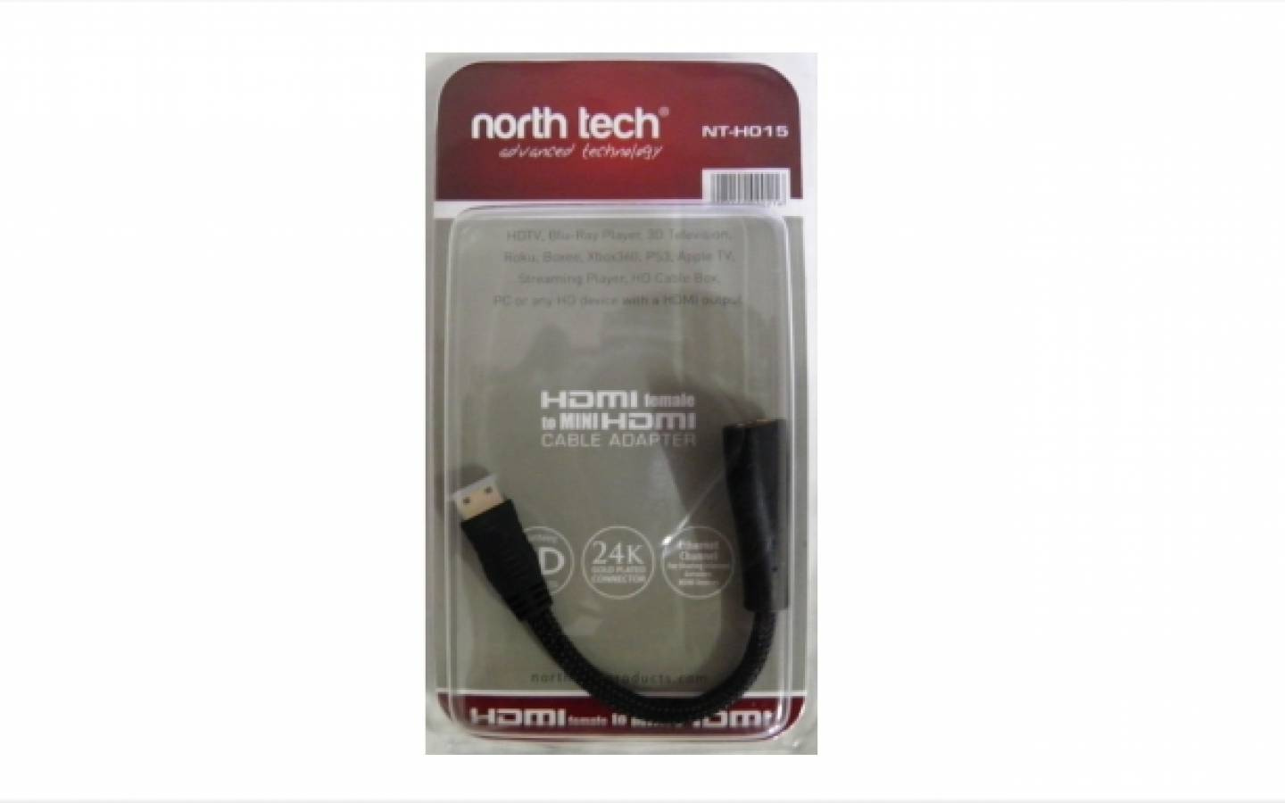 NT-H015 Adaptador mini HDMI North Tech 15cm
