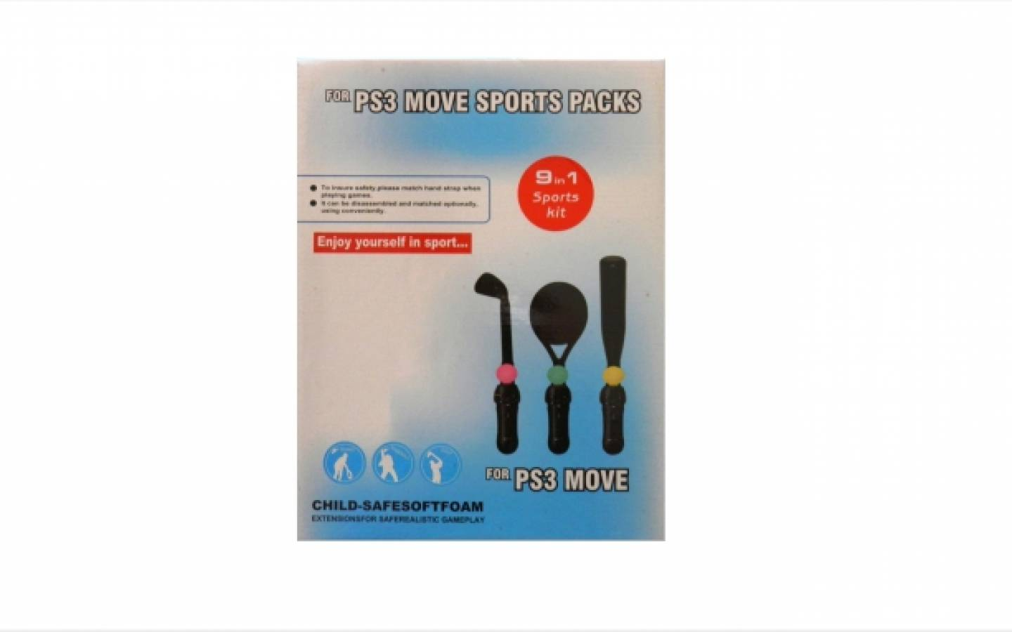 Para PS3 Move Sports Packs 9 en 1.