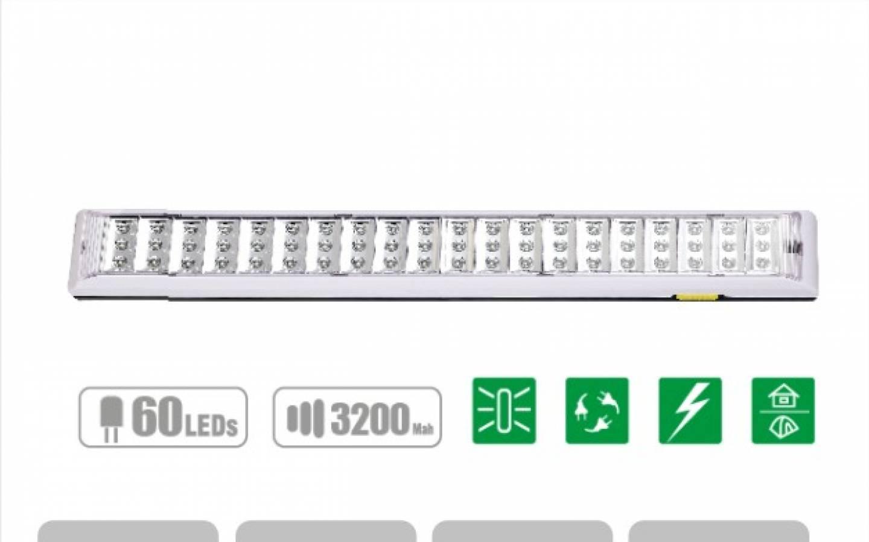 Linterna LED North Tech RECARGABLE  NTL-3556  Emergency  | Lámpara de interior  exterior