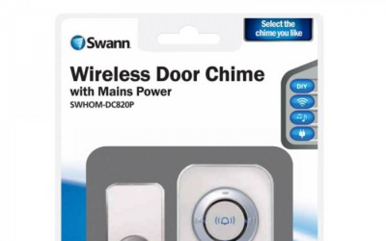 SWANN Timbre de puerta inalámbrico con red de alimentación SWHOM-DC820P