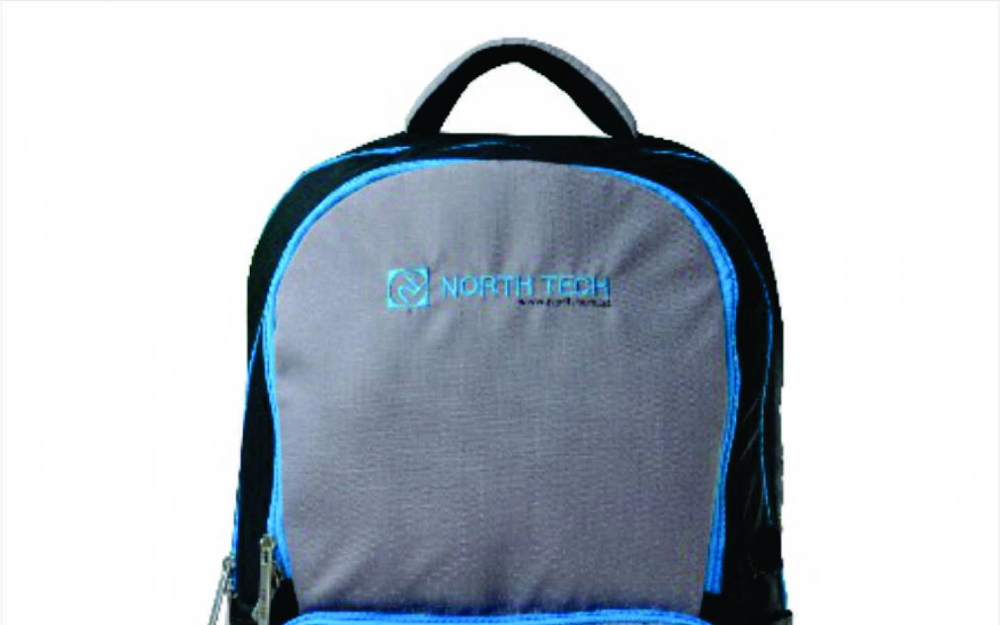 Mochila TED-15B para notebook 15.6 Gris y negro con detalles celeste North Tech