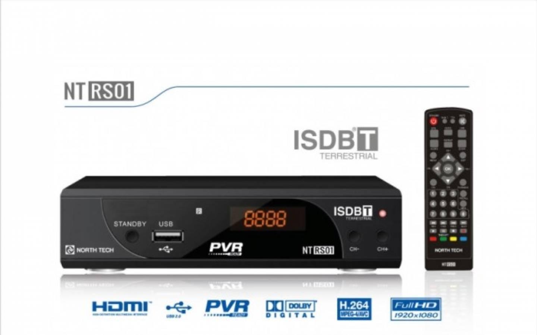 Sintonizador TDT de alta definicion North Tech Modelo NT - RS01
