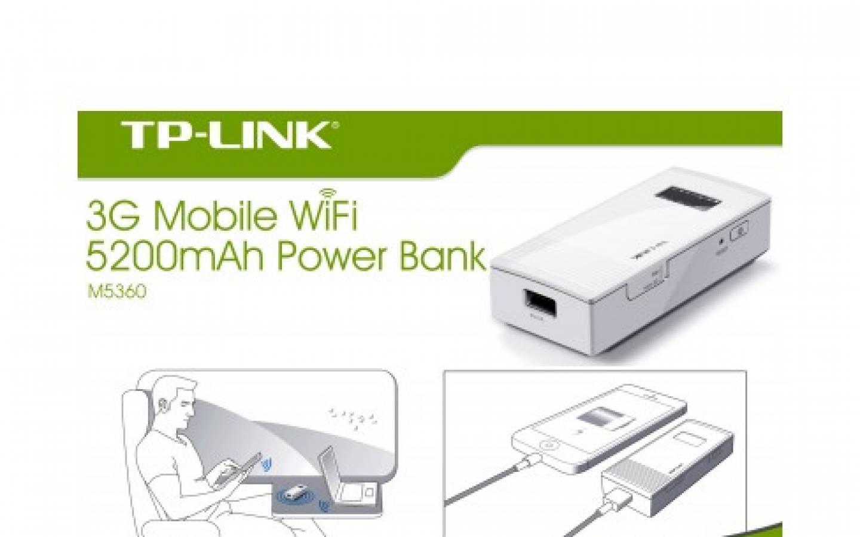 Modem Router TP-LINK  3G W M5360 Portable con Power Bank 5200mAh