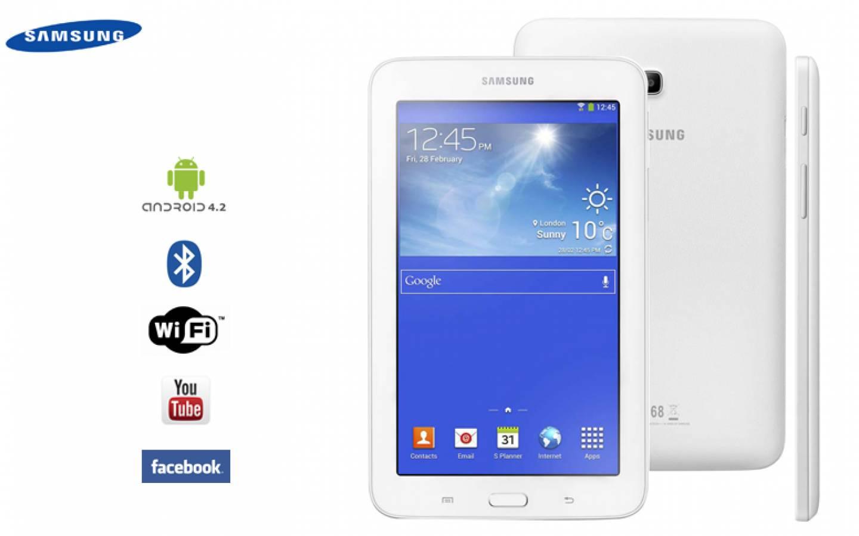 Tablet Samsung Galaxy Tab™ 3 Lite Dual-Core 1.2GHz 1GB 8GB 7 (caja blanca)