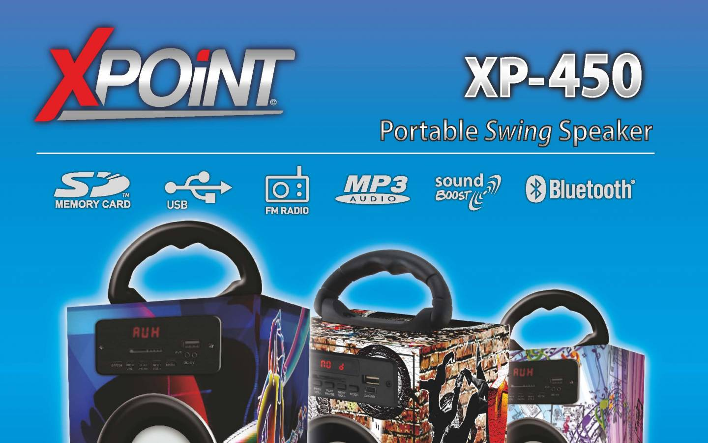 Parlante Portatil North Tech XP-450 BT