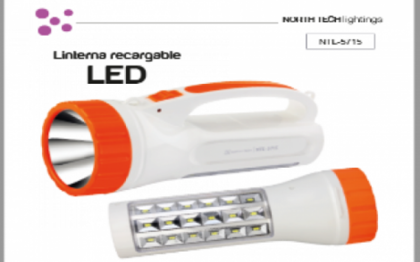 Linterna LED North Tech RECARGABLE  NTL-5715