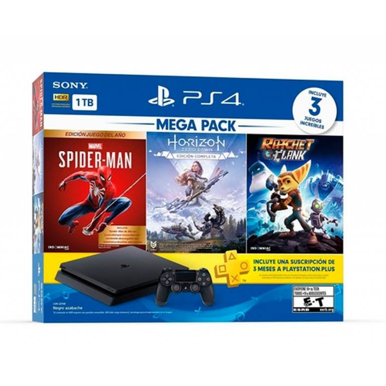 CONSOLA PS4 SONY 1TB MEGA PACK 15 SPIDER