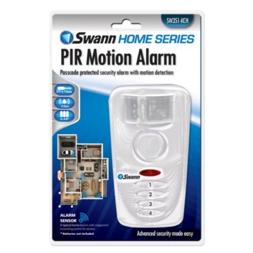 SWANN Passcode Protected Motion Alarm SW351-KCH