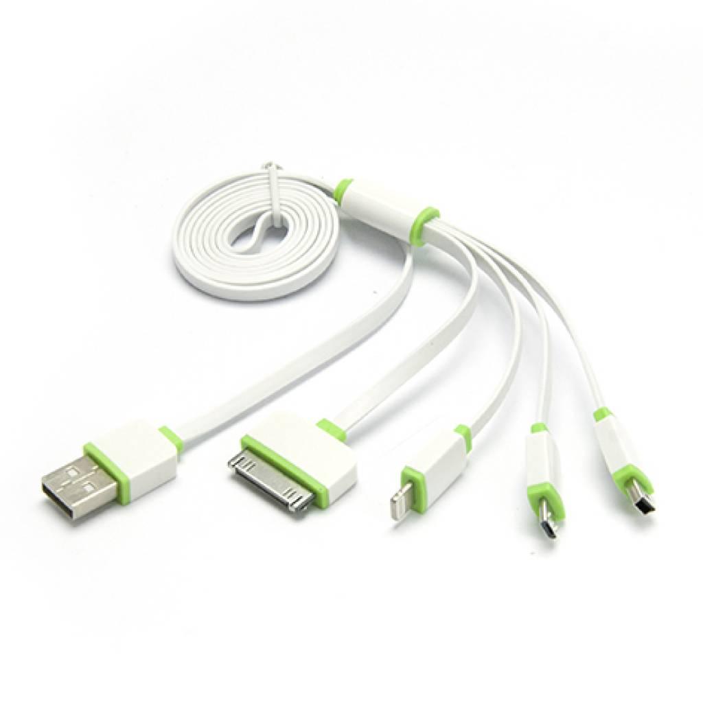 CABLE 4 EN 1 MICRO USB/IPH5/6/IPH4/MINI USB