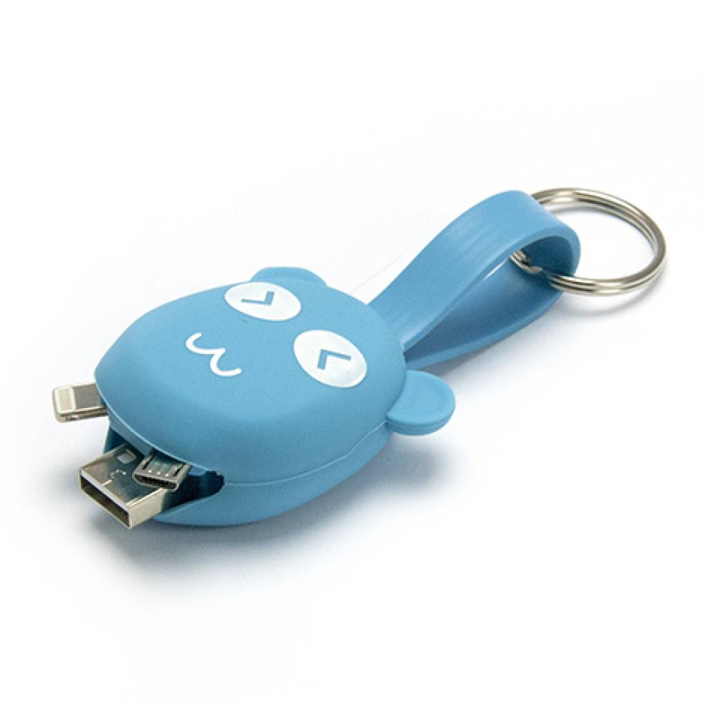 CABLE LLAVERO 2 EN 1 PARA IPHONE /MICRO USB