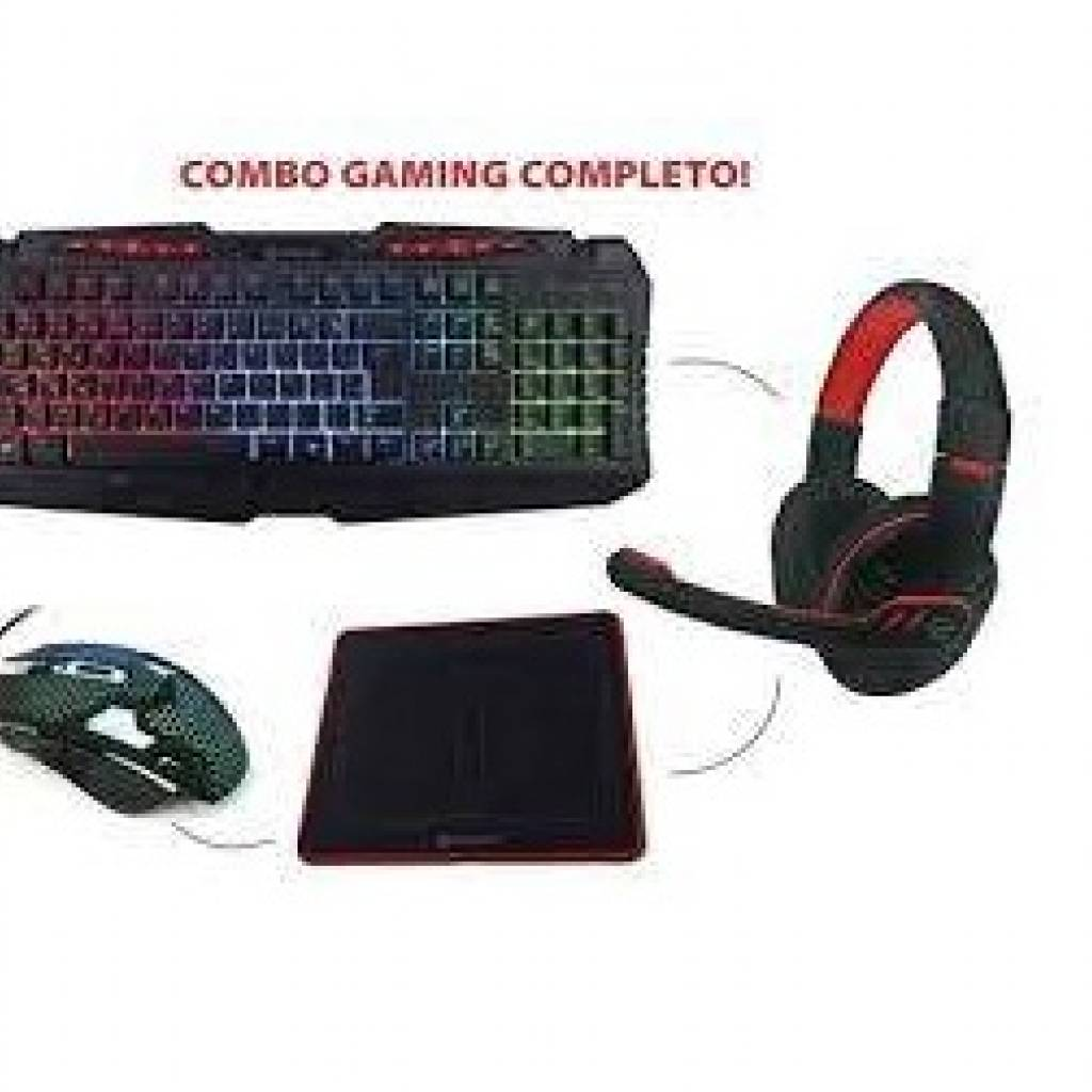 North Tech Combo Gamer Teclado Mouse Auriculares Pad Mouse NT-GX50