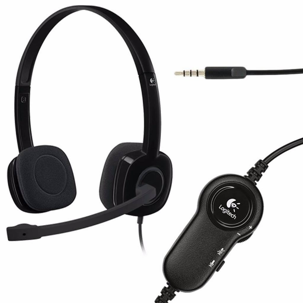 Auriculares estéreo con micrófono Logitech H151