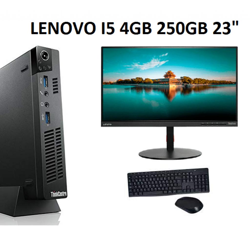 """Equipo Refabricado Lenovo M92P I5 4Gb 250Gb 23"""""""